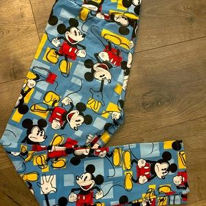LulaRoe One Size Disney Mickey Mouse Leggings